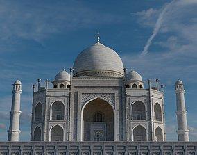 Taj Mahal minaret 3D model