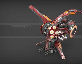 3D asset Drone V3 Red Manga