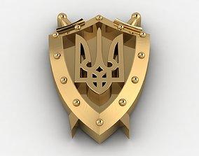Ukraine emblem 3D print model
