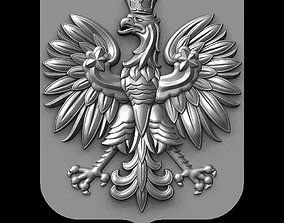 Poland coat of arms model for CNC gerb