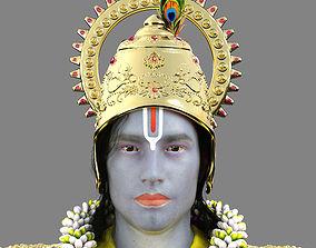 3D Lord Krishna Realistic Model