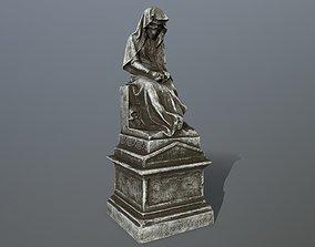 statue architecture 3D model low-poly