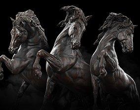 Horse Statue 3D Model PBR VR / AR ready