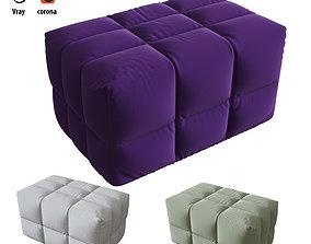 INATTESA armchair banquette 3D model