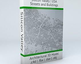 Silicon Valley Streets and Buildings 3D