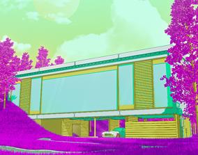 3D Open Lawn Building - Weekly Render 01