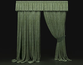 Curtain Green-7 3D