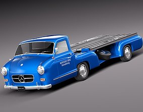 3D Mercedes Renntransporter 1954