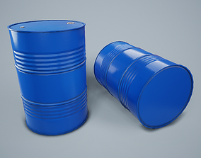 3D asset game-ready Oil Drum PBR Game Ready