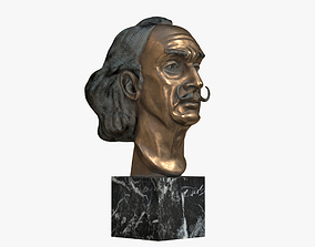 Salvador Dali Bust v2 3D model low-poly