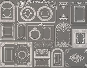 3D Boiserie Decorations - 30 pieces