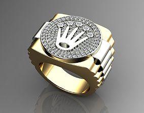 Crown Diamond Ring 3D printable model