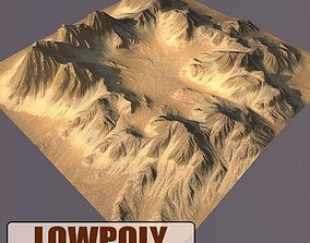 3D model realtime Lowpoly Mountain mountain
