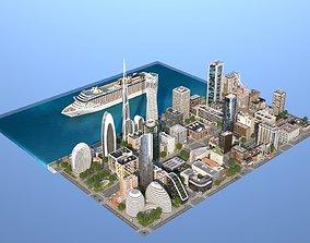 Coastal City 3D asset