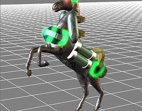 3D animated Lighting Galloper