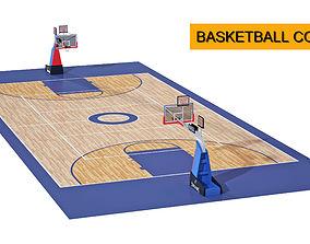 basketball court 3D model model