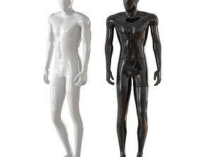 3D model Faceless male mannequin 32