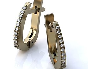 3D printable model Earrings with Brilliants BS 024