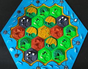 Complete Tile set 3D Catan Board Game