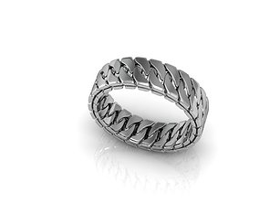 3D print model BOLD chain ring