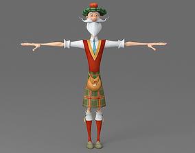 3D model Cartoon old man