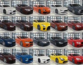 BLENDER EEVEE Brandless 20 car collection volume 3D model