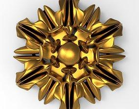 decorative rosette 3D design