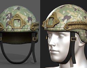 Helmet military combat soldier armor 3D model PBR
