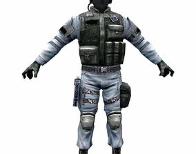 3D model R6 Face mask Army Soldier