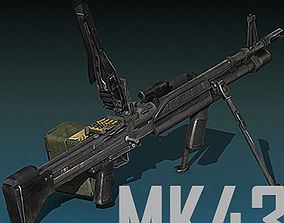 Mk-43 Mod 0 machine gun 3D model