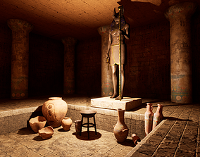 Modular Egypt Tomb 3D model
