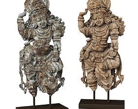 3D model Dvarapala guardian statue