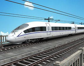 3D China High Speed Train - Harmony CRH380B