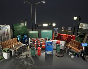 3D asset low-poly Urban City Pack UE4