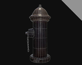 3D model game-ready Fire Hydrant hydrants