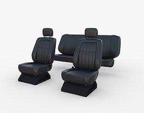 Generic Car Seats Black 3D model