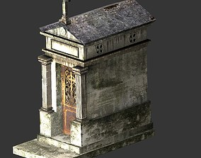 3D Weathered Grave Mausoleum