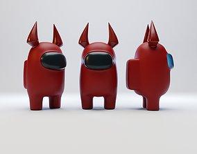 3D model Among Us Devil Horns Character