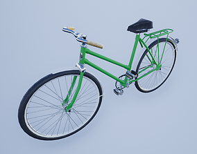 3D asset low-poly bicycle russian