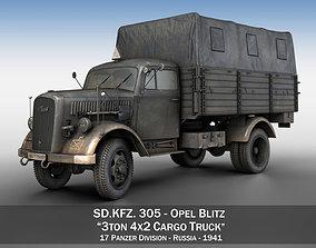 3D Opel Blitz - 3t Cargo truck - 17 PzDiv