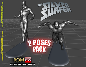 Silver Surfer Action Figure Printable 2 Poses BONUS