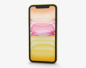 Apple iPhone 11 Yellow 3D model