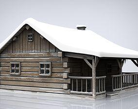 3D model Cabin log