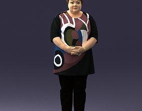 Plump lady colorful dress 0501 3D Print Ready
