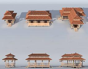 TRADITIONAL TEA HOUSE SET 3D
