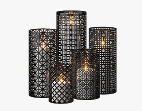Moroccan Lanterns 3D elliptical