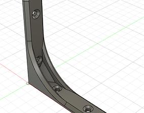Strong shelf bracket 3D print model