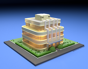 3D model Art Deco House - With texture realtime