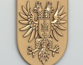 Coat of arms of Chernihivskiy region of Ukraine 3D model