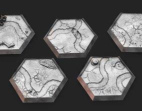 Hex Bases- Desert Terrain 3D print model